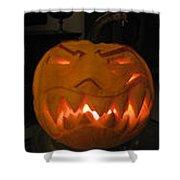 Demented Mister Ullman Pumpkin 2 Shower Curtain