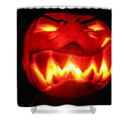Demented Mister Ullman Pumpkin Shower Curtain