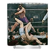 Dempsey V Firpo In New York City Shower Curtain