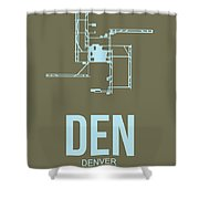 Den Denver Airport Poster 3 Shower Curtain