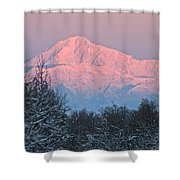 Denali December Sunrise Shower Curtain
