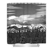 Denali In Clouds Shower Curtain