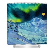 Denali Night In Square Shower Curtain
