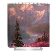 Denali Summer - Alaskan Mountains In Summer Shower Curtain