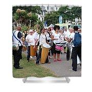 Dende Nation Samba Drum Troupe Shower Curtain