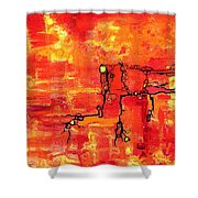 Dendritic Echoes Shower Curtain