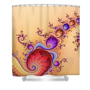 Dendrocometes Shower Curtain