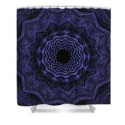 Denim Blues Mandala - Digital Painting Effect Shower Curtain