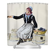 Denmark Vegetable Vendor Shower Curtain