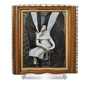 Dennice - Framed Shower Curtain