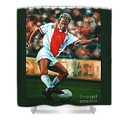 Dennis Bergkamp 2 Shower Curtain by Paul Meijering