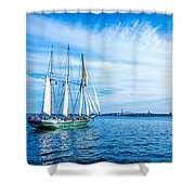 Dennis Sullivan Afloat Shower Curtain