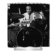 Denny Carmasi On The Drums In 1978 Shower Curtain