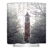 Denny Chimes Foggy Blossoms Shower Curtain by Ben Shields