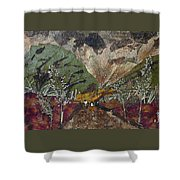 Dense Cloudy Weather Shower Curtain