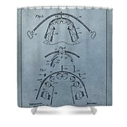 Dental Braces Patent Design Shower Curtain