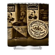 Dentist  -  Tooth Powder And More In Black And White Shower Curtain