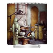 Dentist - Dental Office Circa 1940's Shower Curtain