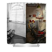 Dentist - S.b. Johnston Dentist 1919 - Side By Side Shower Curtain