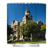 Denton County Courthouse Shower Curtain