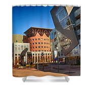 Denver Art Museum Courtyard Shower Curtain
