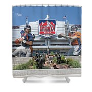 Denver Broncos Sports Authority Field Shower Curtain