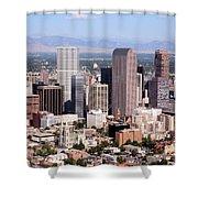 Denver Colorado Skyline Shower Curtain