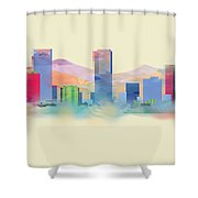 Denver Colorado Skyline I Shower Curtain