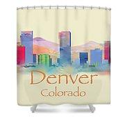 Denver Colorado Skyline II Shower Curtain
