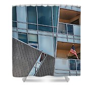 Denver Diagonal Lines Shower Curtain