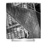 Denver Diagonals Bw Shower Curtain
