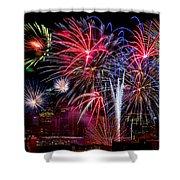 Denver Fireworks Finale Shower Curtain