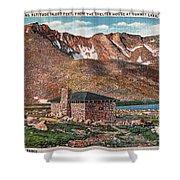 Denver Mountain Parks Antique Post Cards Shower Curtain