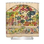 Denver Nuggets Poster Retro Shower Curtain