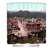 Denver Panorama 1897 Shower Curtain