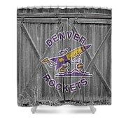 Denver Rockets Shower Curtain