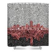Denver Skyline Abstract 2 Shower Curtain