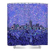 Denver Skyline Abstract 4 Shower Curtain