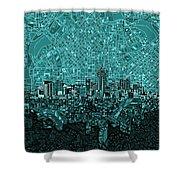 Denver Skyline Abstract 5 Shower Curtain