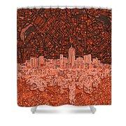 Denver Skyline Abstract 6 Shower Curtain