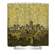 Denver Skyline Abstract 8 Shower Curtain