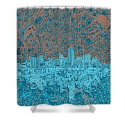 Denver Skyline Abstract Shower Curtain