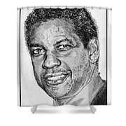 Denzel Washington In 2009 Shower Curtain by J McCombie
