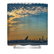Departing From Ewr  Shower Curtain