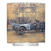 Departure For Christmas Oil On Canvas Shower Curtain