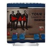 Depech Mode Tour Shower Curtain