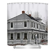 Depot Lodge Shower Curtain