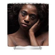 Chynna African American Nude Girl In Sexy Sensual Photograph And In Color 4787.02 Shower Curtain
