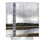 Depth Measuring Stick Lake Lagunita Stanford University Shower Curtain