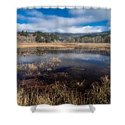 Depths Of Dry Lagoon Shower Curtain